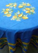 Lemons Tablecloth Round Coated
